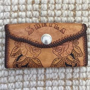 Sheila by P. Havard Hand tooled all leather wallet
